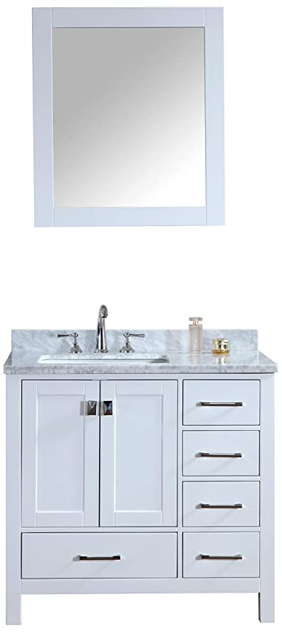 Amazon.com: Ari Kitchen and Bath Akb-Bella-36-WH Vanity Set with ...