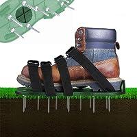 Grasbeluchter gazonventilator, 4 verstelbare riemen, gazonnagelschoenen, 30 cm lange zolen, 5,5 cm lange nagels…