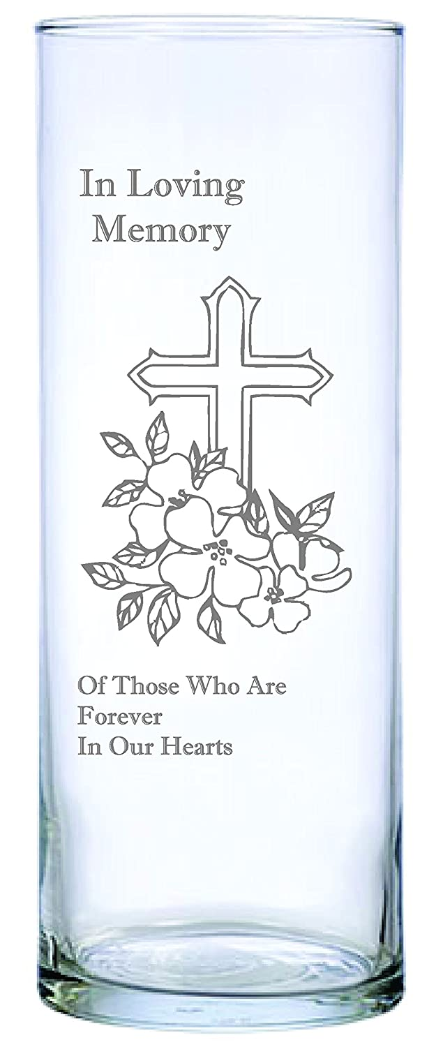 IE Laserware Cross and Flowers Beautifully Laser Etched on This 9