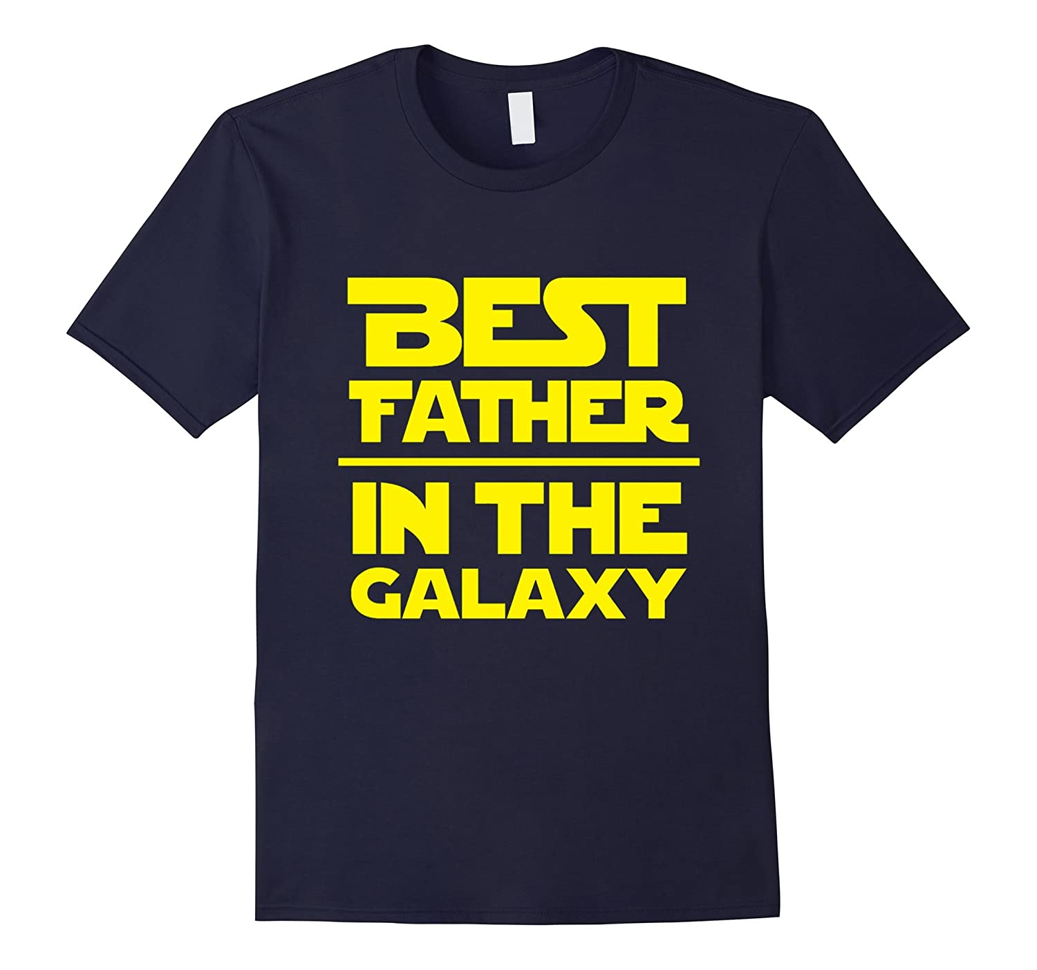 Mens Best Father In The Galaxy T-Shirt-TH