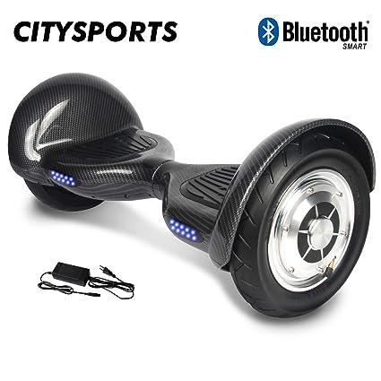 Citysports Hoverboard de 10 Pulgadas, Bluetooth, Auto- Equilibrio Scooter Balance Board Patinete Eléctrico, 700W