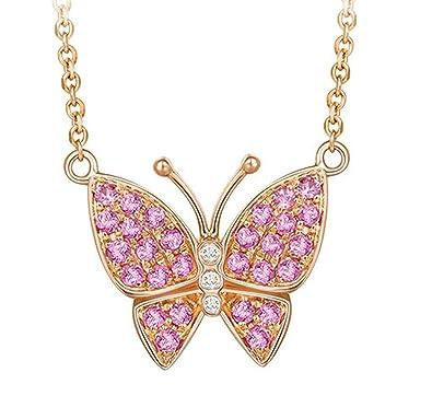 Amazoncom Epinki 18K Gold Necklace for Women Girls Butterfly