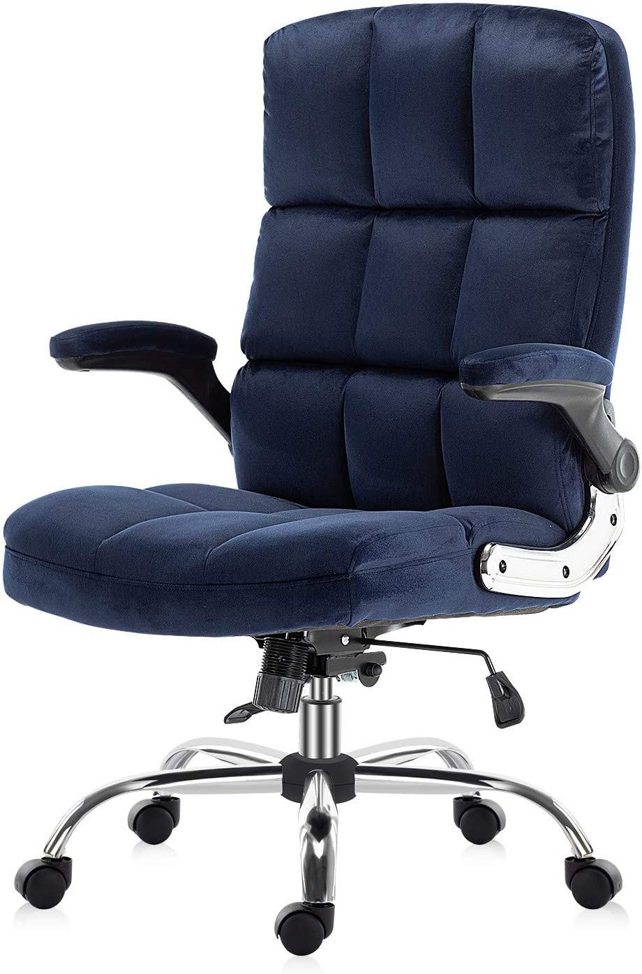 SP Velvet Office Chair Adjustable Tilt Angle and Flip-up Arms Executive Computer Desk Chair, Thick Padding for Comfort and Ergonomic Design for Lumbar Support (3288RW)