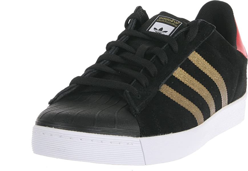 Cheap Adidas Men 's Superstar Vulc Adv Skate Shoe Black / White / Goldmt 11