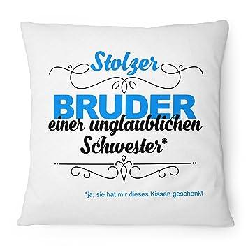 Fashionalarm Kissen Stolzer Bruder   Unglaubliche Schwester   40x40 Cm Mit  Füllung | Geburtstag Geschenk Idee