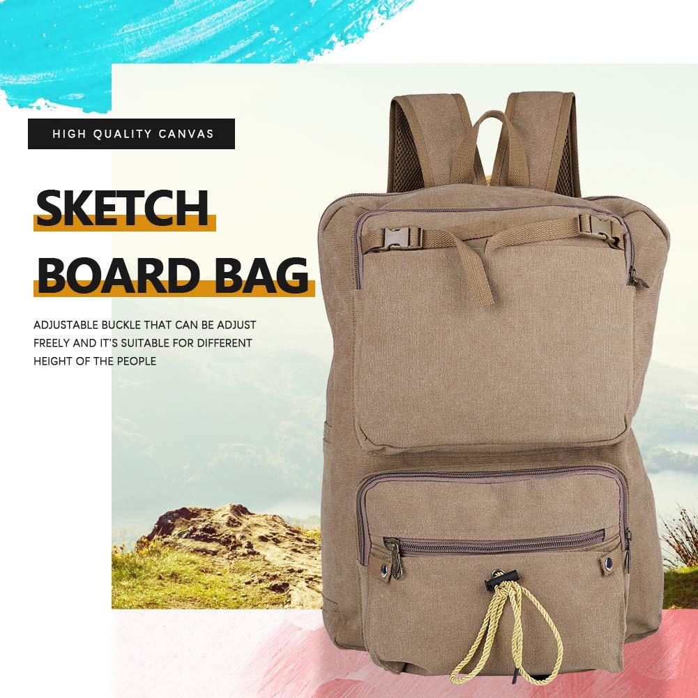 5e62a1594e91 Amazon.com: Akozon Artist Canvas Bag 8k A3 Classical Portable Sketch ...