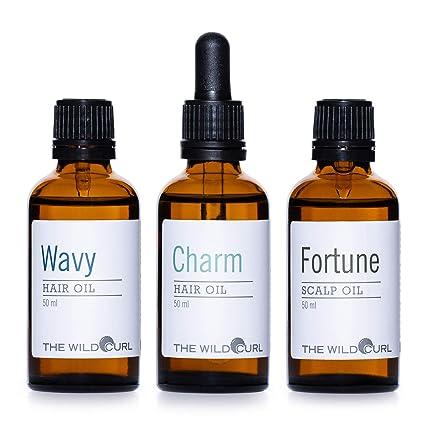 Wavy Hair Oil Kit - Aceite diario para mantener el pelo rizado y ...