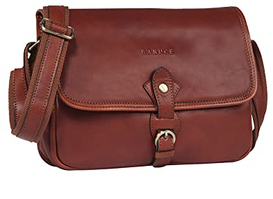 53c7d27f7198 Image Unavailable. Image not available for. Color  Banuce Vintage Full  Grains Italian Leather Small Messenger Bag for Women Shoulder ...