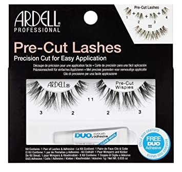 76eb6888514 Ardell Pre-Cut Lashes Wispies with Free DUO Glue: Amazon.co.uk: Beauty