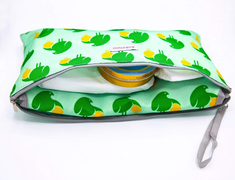 neutrales Design wasserdichte abwaschbare Wickeltasche mit faltbarer Wickelauflage Wickelunterlage f/ür unterwegs mit Windeltasche weich gepolstert 75 cm x 49 cm