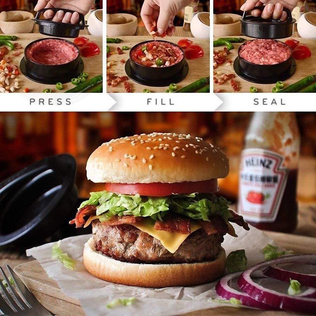 Antiadh/ésif Hamburger Maker pour Repas de Famille Meilleure Ustensile de Cuisine LaVibe Burger Press