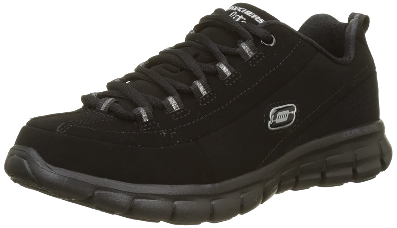 Skechers Synergy-Trend Setter, Zapatillas de Deporte para Mujer 38.5 EU|Negro (Bbk)