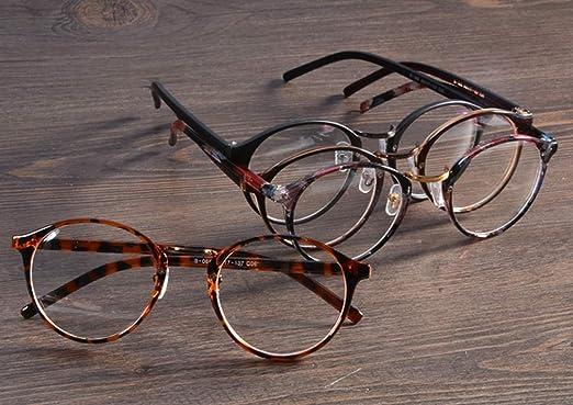 Embryform Retro lunettes rondes frame hommes miroir plaine et les femmes visage religieux sauvages 9580 Marron t554FPT4