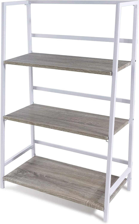 Atlantic 3 Tier Folding Shelf – Sturdy Tubular Design, Folds for Easy Storage PN3845036 in White