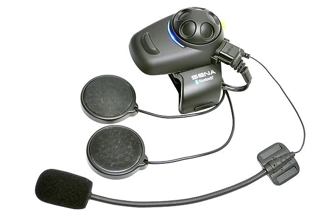Sena SMH5-FM-01 Auricular E Intercomunicador Bluetooth, Con Sintonizador De Fm Integrado, Para Scooters Y Motocicletas, Kit Para Casco Jet