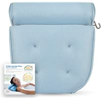 Breathable 3D Mesh Spa Bath Pillow with 4 Suction Cups, Neck & Back Support - Home Hot Tub Spa Pillow