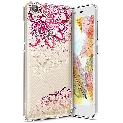 Funda Huawei Y6 II ,Funda Silicona Gel Carcasa Ultra Delgado Flexible Tpu Goma Silicona Protector Flexible Cover Case Estuche Protective Caso para ...