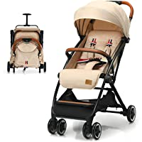 BABY JOY Lightweight Baby Stroller, Compact Toddler Travel Stroller for Airplane, Infant Stroller w/ 5-Point Harness…