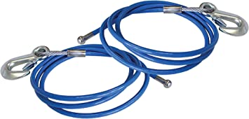 """Roadmaster 645-76 76/"""" Single Hook 6,000 lbs Straight Safety Cables"""