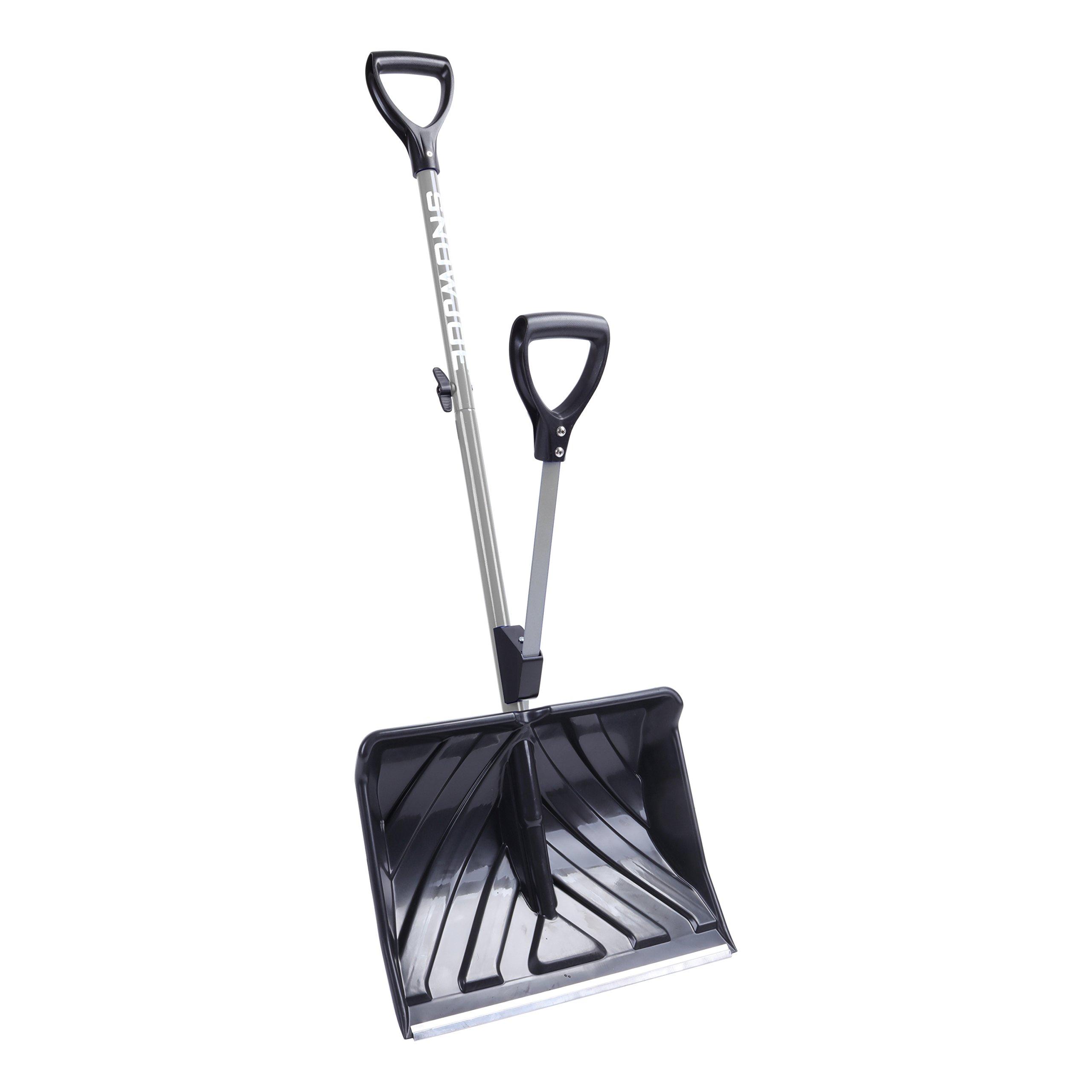 Snow Joe SJ-SHLV01-GRY-RM Shovelution Strain-Reducing Snow Shovel (Gray) (Certified Refurbished) | 18-Inch | Spring Assisted Handle
