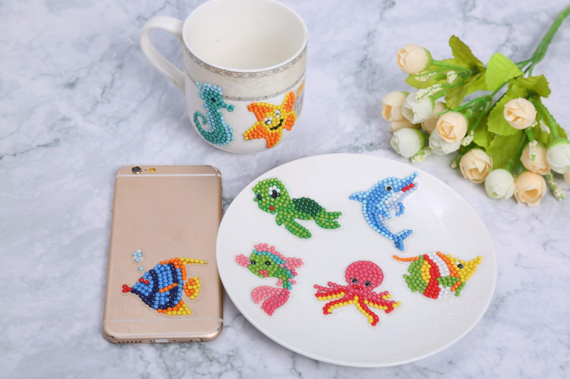 YOMOSA 5D Diamond Painting Kits for Kids DIY Sticker Paint with Diamonds Kits Arts Crafts Kits for Children and Beginner Adults