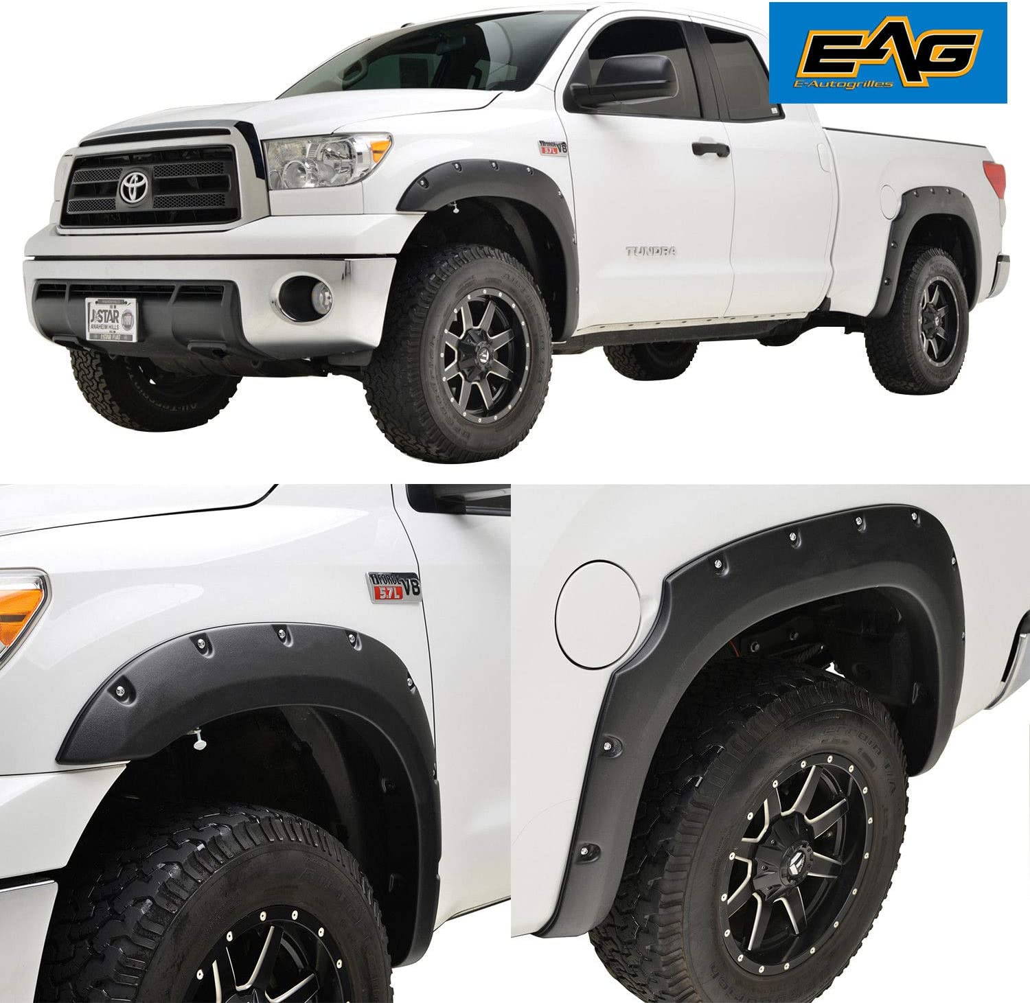 Amazon Com Eag Fender Flares Pocket Rivet Style Fit For 07 13 Tundra Automotive