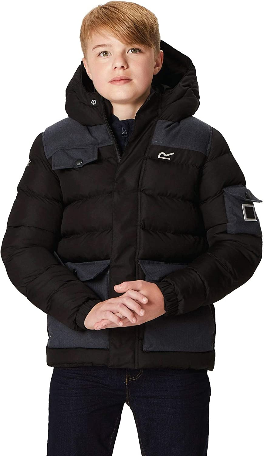 Regatta Childrens Larimar Quilted Thermoguard Insulated Water Repellent Hooded Jacket