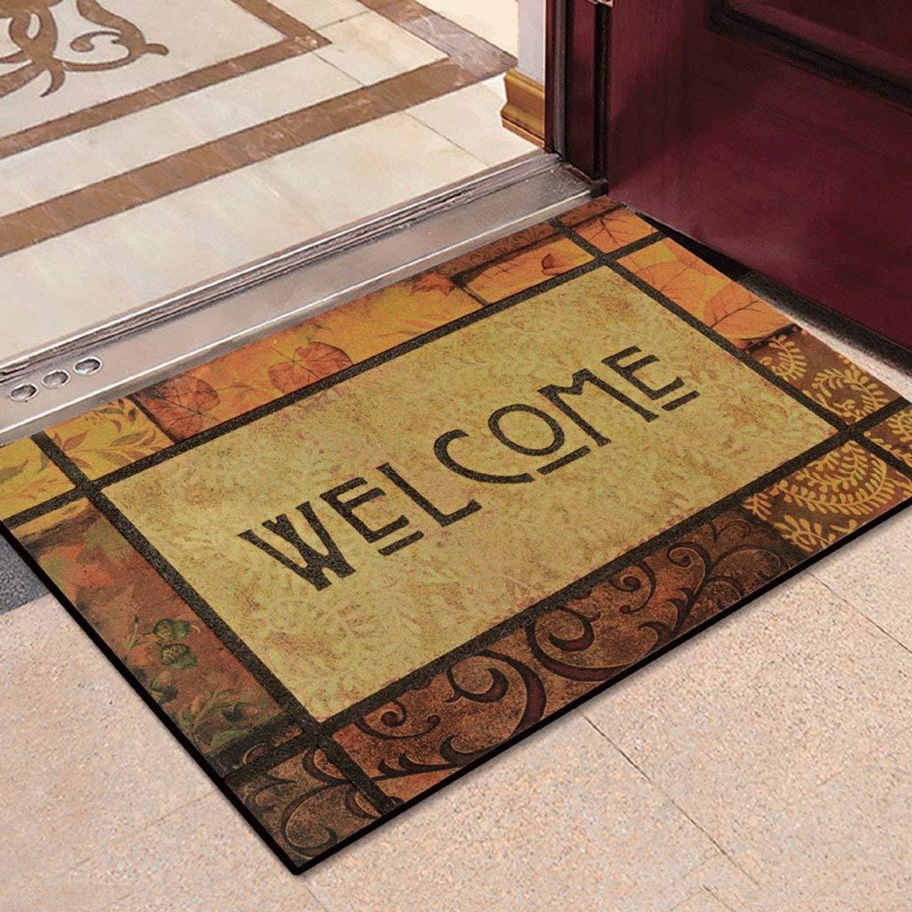 2 Door Matt Indoor Non Slip Hard Wearing Barrier Mat Entrance Door Mat European Mattress Hall Mats Personalized Fashion Rubber Door Mats at The Gate of The Floor Mats, Kejing