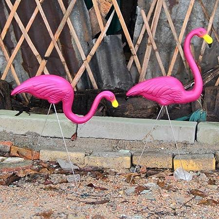 Compra B Blesiya 1pcs Rosa Mirando hacia Arriba Flamenco Plástico Patio Jardín Adornos Arte Césped Decoración en Amazon.es