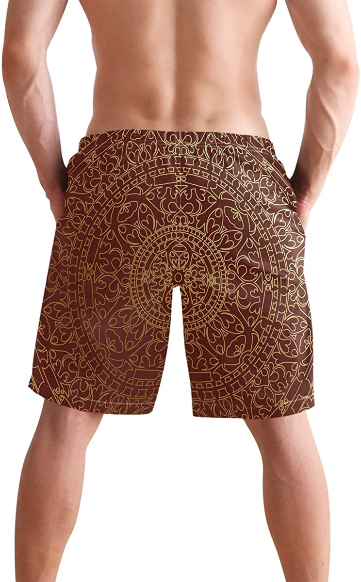 COVASA Mens Summer ShortsAnime Twin Fantasy Fairy Silhouette Sitting On The Br