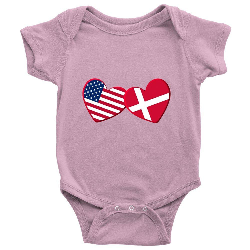 Infant Bodysuit Baby Romper Teelaunch Danish and American