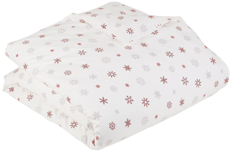Twin Falling Snowflake Merlot FLN-DC-TW-FSM Pinzon Flannel Duvet Cover