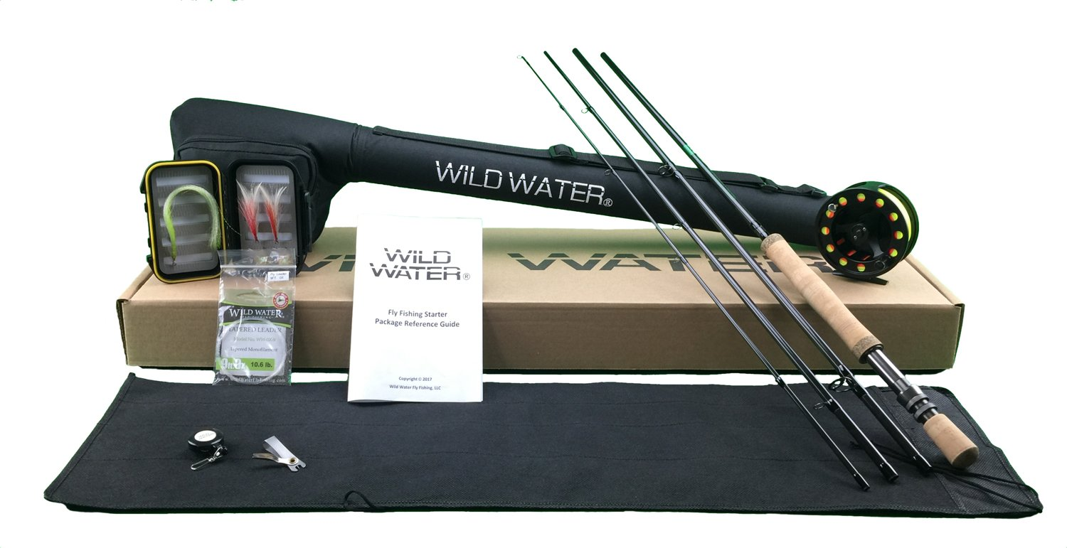 Wild Water Fly Fishing Complete 9/10 Starter Package (Saltwater Fly Assortment) by Wild Water Fly Fishing