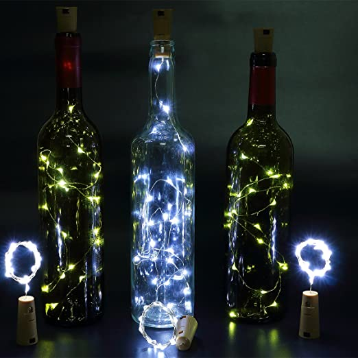 6pcs Botella Luces – 100cm botella de luz Con 20 bombillas LED, lampara botellas para la botella DIY, partido, decoración, la Navidad, Víspera de ...