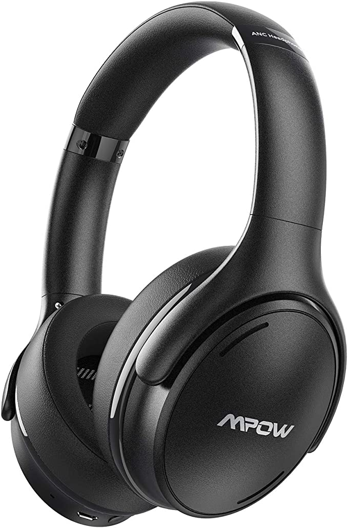 Mpow Noise Cancelling Headphones, 35Hrs Bluetooth 5.0 Wireless Headphones Over Ear with Quick Charge, Hi-Fi Deep Bass Wireless Headset with CVC 8.0 Mic for Home Office Online Class Cellphone PC TV