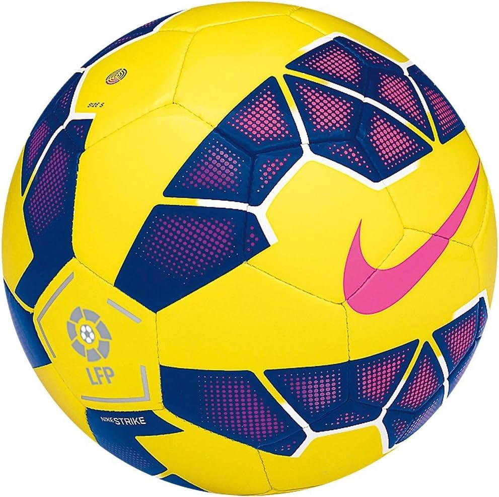 Nike Strike LFP HI Vis - Balón de fútbol, Color Amarillo/Azul ...