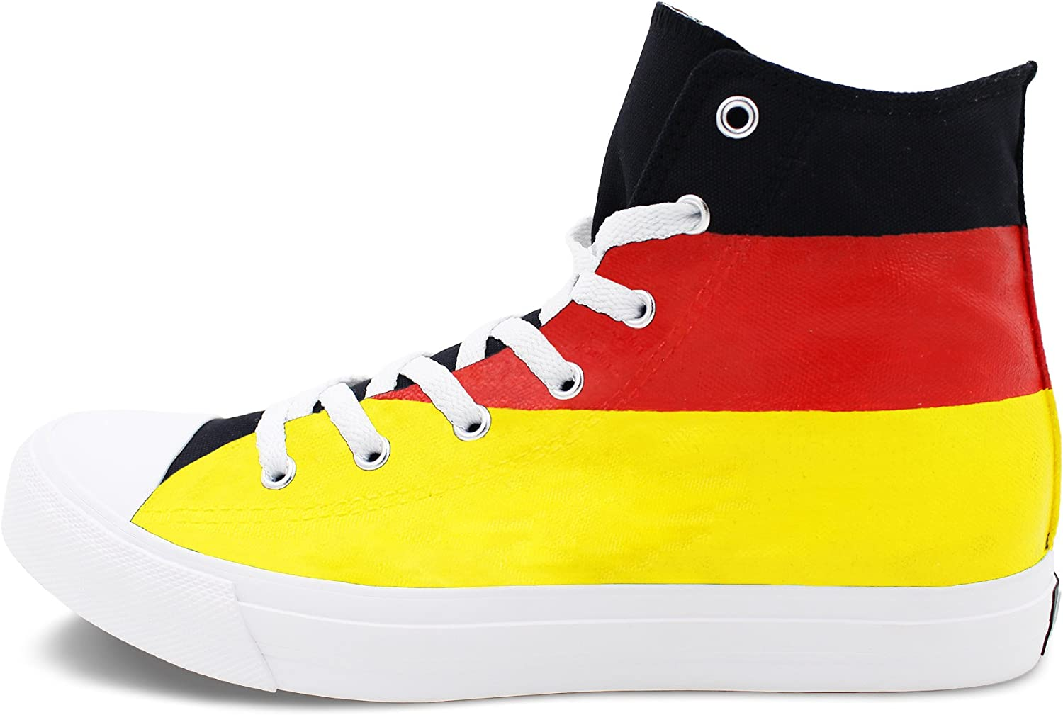 Amazon.com   Wen Fire Design Hand Painted Shoes Germany Flag Men Women's  Canvas Sneakers High   Skateboarding