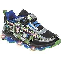 Tenis con Luces Buzz Lightyear niño Modelo 66071 sintético Color Gris Marino Verde/PV-19!!!!