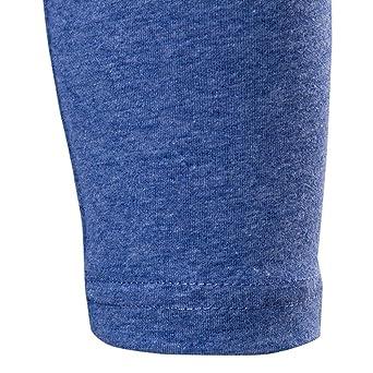 Internet_camisetas de hombre La Blusa Superior de la Camisa sólida de Manga Larga Casual de la Personalidad de los Hombres de Moda Ajustada: Amazon.es: Ropa ...
