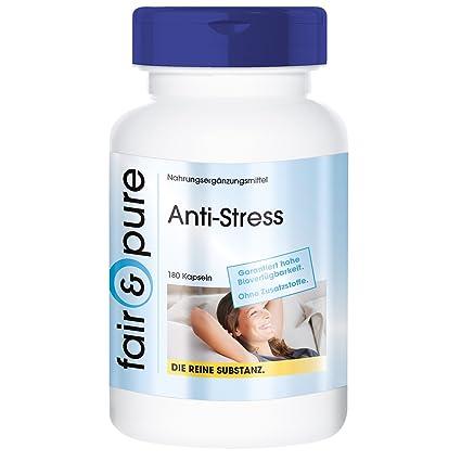 Anti-Stress - 180 cápsulas vegetarianas relajantes - Sustancia pura y sin aditivos