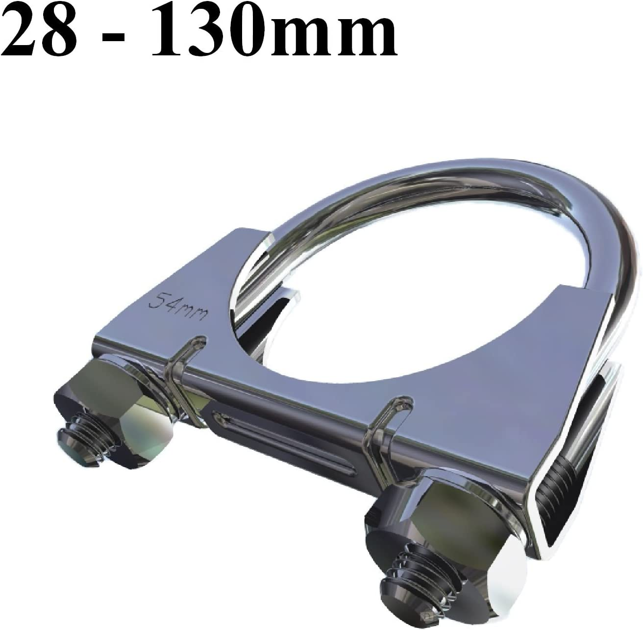 35mm Smarthome Universal U Bolt Clamp//Heavy Duty Exhaust Clamps//TV Sky Aerial Pipe