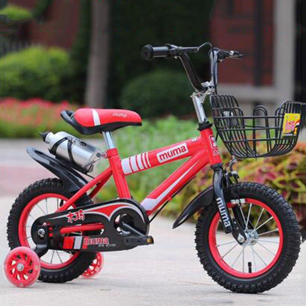 Brisk-子供時代 フリースタイルキッズバイクボーイとガールズ自転車、トレーニングホイール付きパーフェクトギフト12-14-16-18インチ -アウトドアスポーツ (色 : 赤, サイズ さいず : 18 inch) B07F1JQKYF 18 inch|赤 赤 18 inch