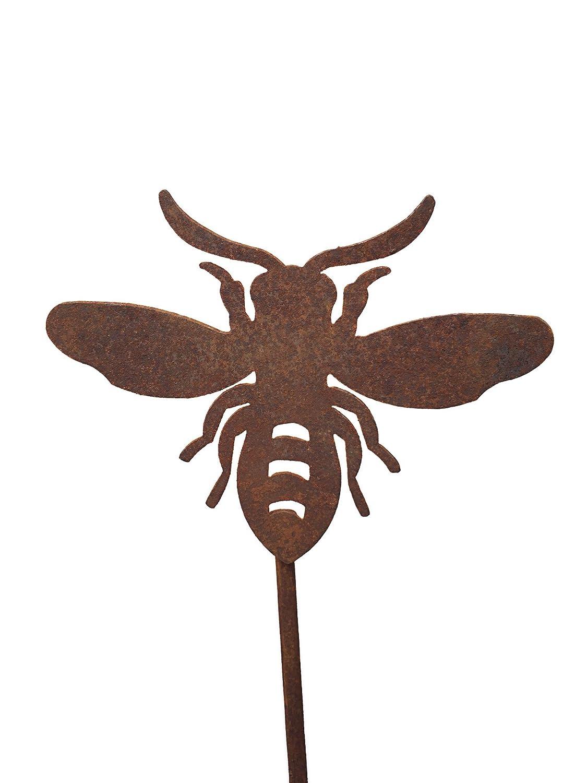 90 cm Stab Crispe home /& garden Gartenstecker Edelrost Biene 15 x 20 cm