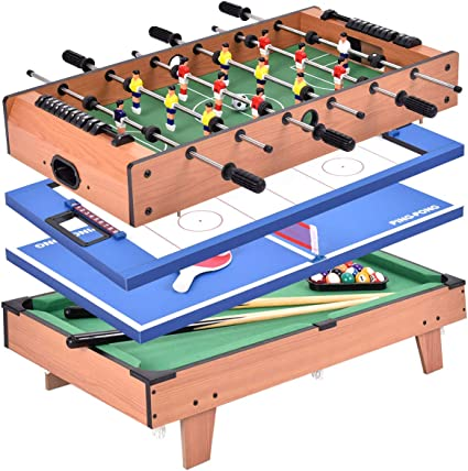 giantex 4 in 1 Multi Game Tisch Pool Air Hockey Fußball
