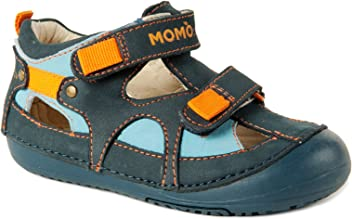 63cce4df9e660 Momo Baby Boys First Walker Toddler Thomas Leather Sandals