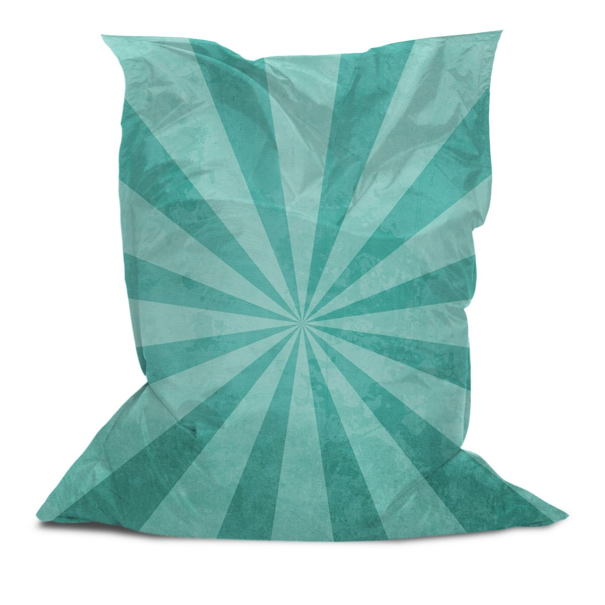 Branded Bean Bag with Printed Retro Background (3' x 4.4')