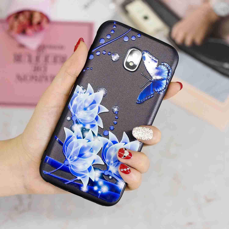 Premium TPU Silicone Bumper Cover Soft Silicone Carols Coque Samsung Galaxy J3 2017 Marbre Noir