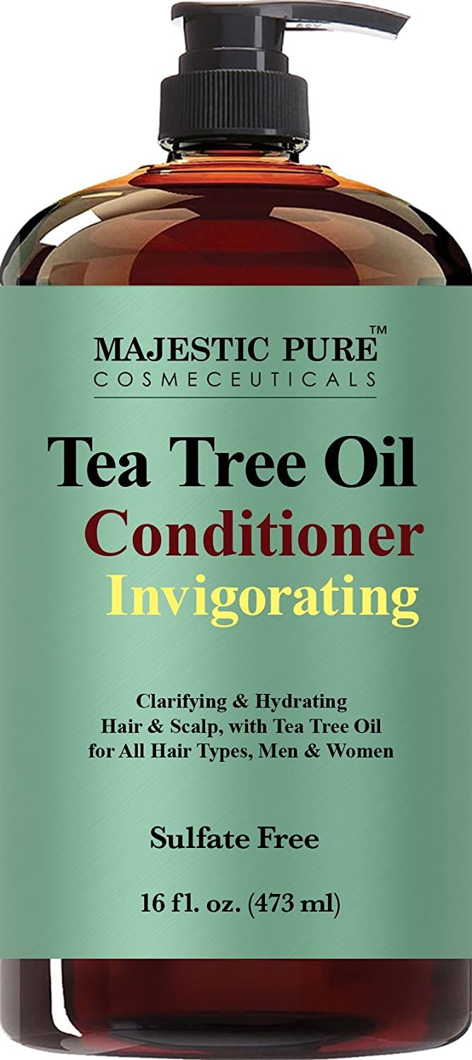 Tea Tree Oil Hair Conditioner, Clarifying & Hydrating, Helps Reduce Itchy and Dry Scalp, Sulfate Free, Paraben Free, 16 fl oz MAJESTIC PURE