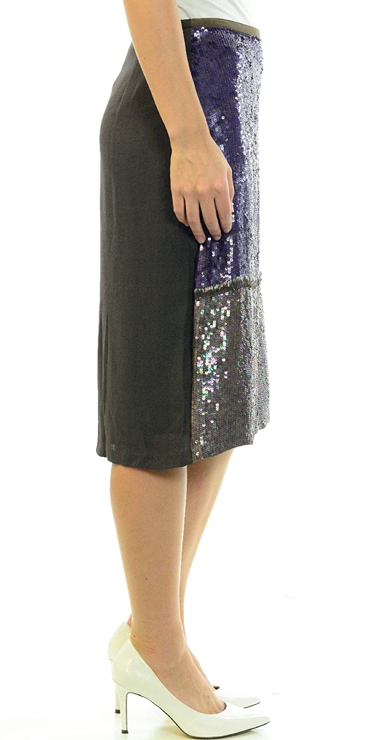 372b4c14a1 Amazon.com: Cynthia Rowley Women's Sequin Pencil Skirt in Plum, 8: Clothing