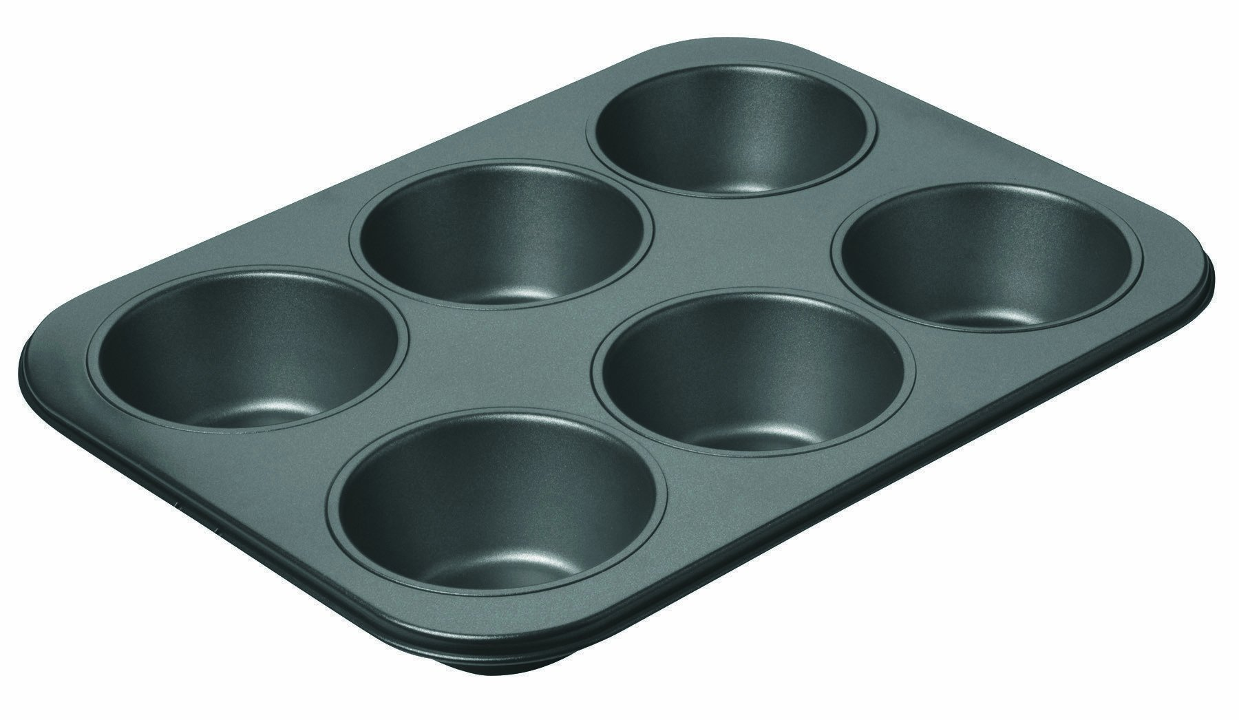 Chicago Metallic Professional 6-Cup Non-Stick Muffin Pan, 14-Inch-by-10.25-Inch